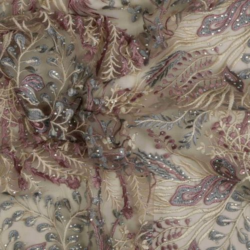 FANCY NET EMBROIDERED FABRIC
