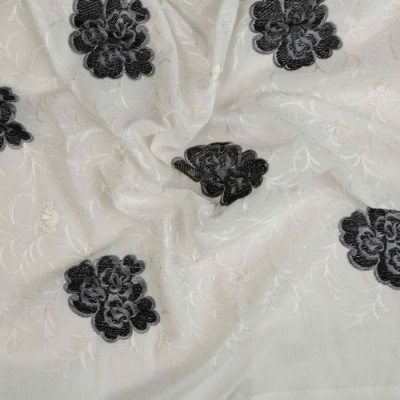 COTTON VOILE PLAIN - Embroidery