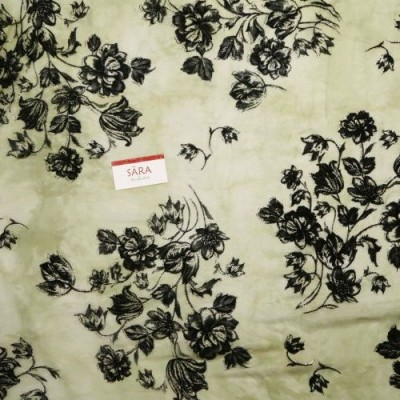 Flat Chiffon Plain - Velvet Print